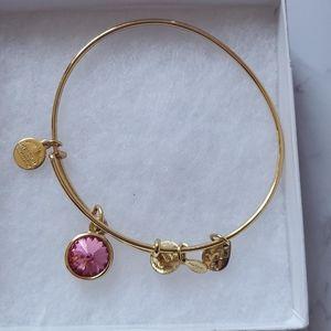Alex and Ani Rose Birthstone Bracelet
